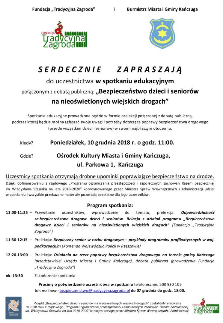 Zaproszenie Na Spotkanie Edukacyjne Aktualności Urząd Miasta I