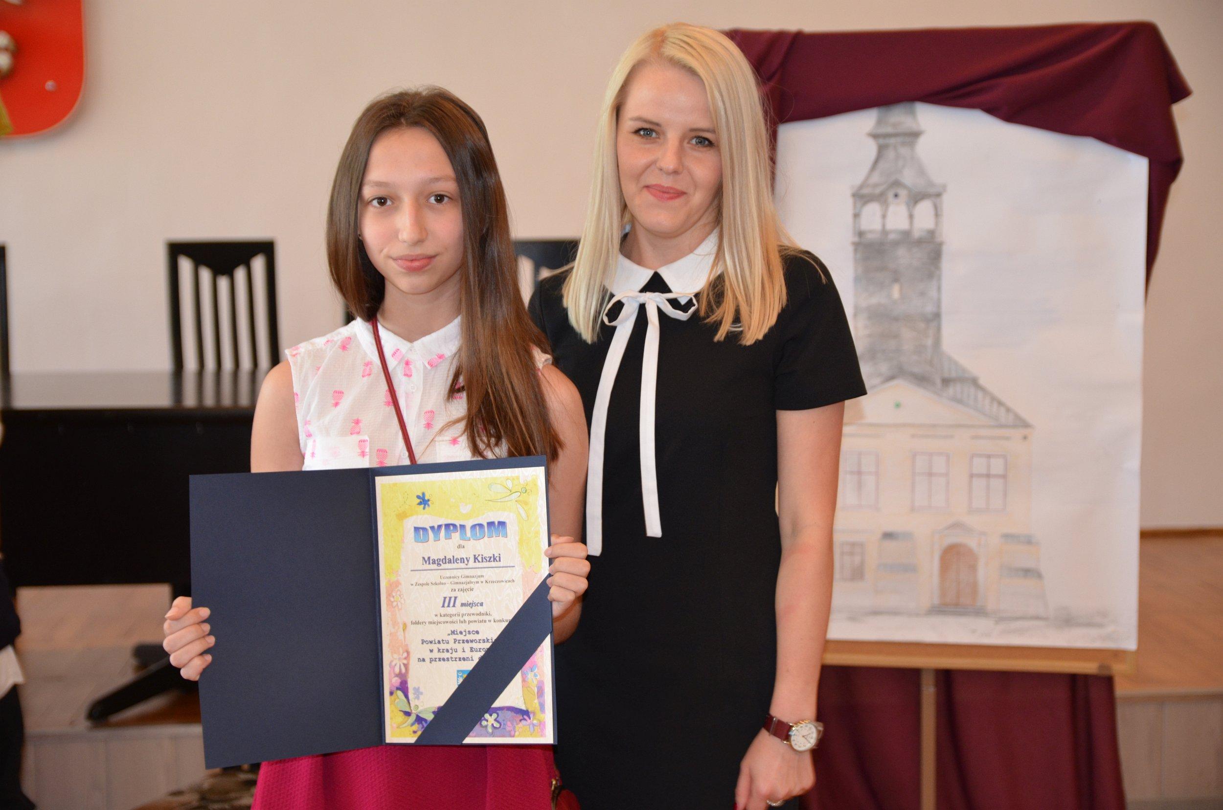 III miejsce uczennicy Zespołu Szkolno – Gimnazjalnego w Krzeczowicach